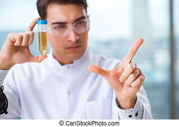 Medical concept with doctor and test tube