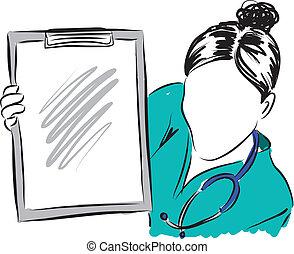 medical concepts 5 doctor nurse illustration