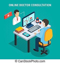 Medical Consultation Concept - Online doctor medical...