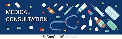 Medical Consultation Online Doctor Health Care Clinics Hospital Service Medicine Banner