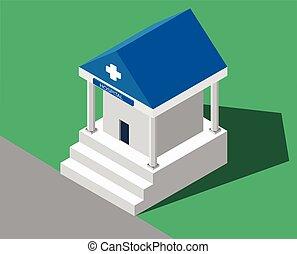 medical., costruzione, ospedale