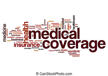 Medical coverage word cloud concept