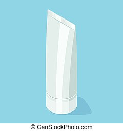 Medical cream gel tube. Isometric vector illustration