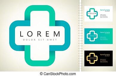 Medical cross and pharmacy logo vector