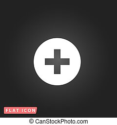 Medical cross flat icon