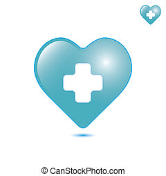 Medical cross isolated on white background