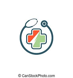 Medical cross logo template
