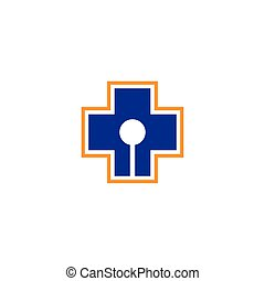 Medical cross logo template vector icon