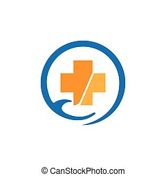 Medical cross logo vector icon