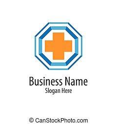Medical cross logo vector icon