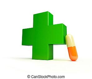 medical cross pill