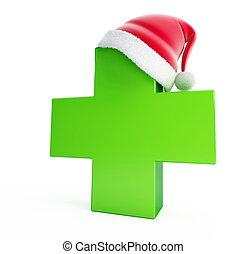 medical cross santa hat