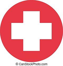 Medical Cross Sign