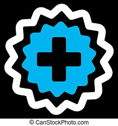 Medical Cross Stamp Icon