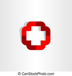 medical cross symbol icon logo vector element