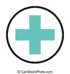 medical cross symbol isolated icon