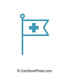 medical cross symbol line style