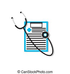 medical data, medical document, stethoscope