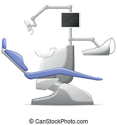 medical dental arm-chair vector illustration