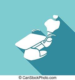 Medical dental chair icon. Vector Illustration - Vector...
