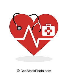Medical design. Care icon. Health concept