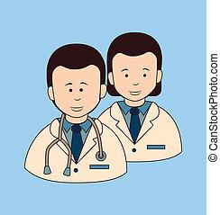 medical design - medical dsign over blue background vector...