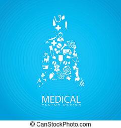 medical dsign over blue background vector illustration