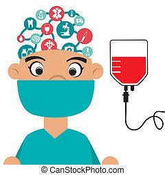 brain surgeon illustrations and clip art 262 brain surgeon royalty rh canstockphoto com Astronaut Clip Art Brain Surgery Clip Art