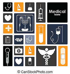 medical design - medical dsign over white background vector...