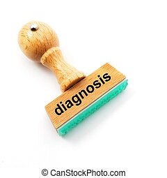 medical diagnosis - diagnosis stamp in hospital offcie...