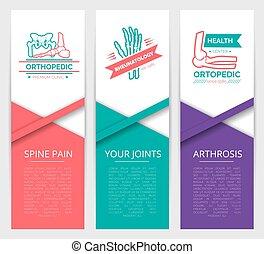 Medical diagnostic clinic banner template design