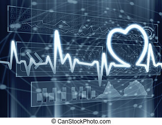 Cardiology, medicine and innovation concept