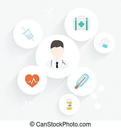 Medical doctor. Vector illustration of a male medical doctor...