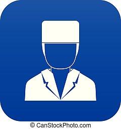 Medical doctor icon digital blue