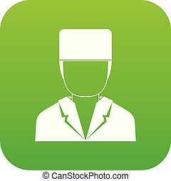 Medical doctor icon digital green