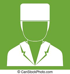 Medical doctor icon green