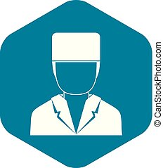 Medical doctor icon, simple style