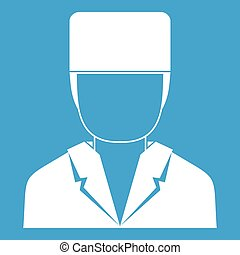 Medical doctor icon white