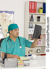Medical doctor in the office