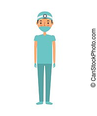 medical doctor man over white background. colorful design....