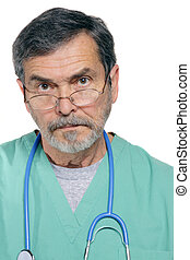 Medical Doctor MD Surgeon - Medical doctor looking serious
