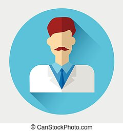 Medical Doctor Medicine Icon Flat Vector Illustration