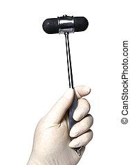 reflex hammer - Medical doctor with a reflex hammer on a...