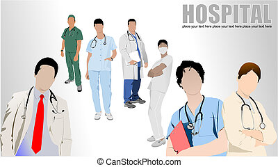 Medical doctor with stethoscope - Medical doctor with...