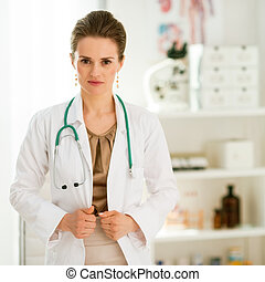 medical doctor woman in office