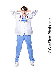 medical doctor woman with problem