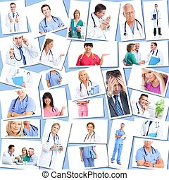 Medical doctors group Collage.