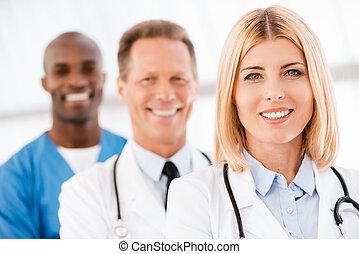 Medical doctors team.