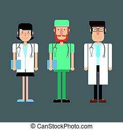 Medical doctors. Vector illustration