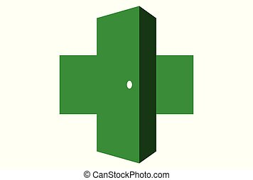 medical door logo dsign